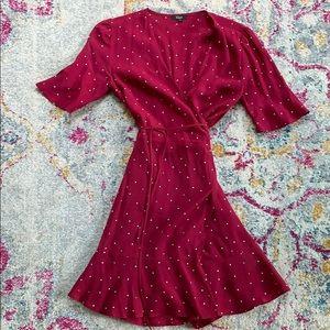 Rails Aimee Polka Dot Wrap Dress